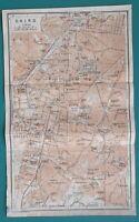 "1934 MAP 6 x 10"" (15 x 25 cm) - CAIRO City Plan & Environs Giza Heliopolis Egypt"