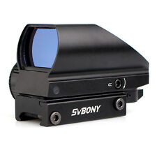 SVBONY Green Red Tactical Dot Sight Coated Optic 5 Levels of Brightness 4Reticle