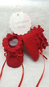 Newborn Crochet Baby Booties Unisex