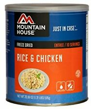 Mountain House Rice and Chicken #10 Can Freeze Dried Food Survival Camping