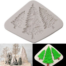 Molde de Silicona de árbol de Navidad Fondant Pastel Sugarcraft Hornear Decoración Molde de hágalo usted mismo