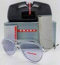 681787973a New Prada sunglasses PS04TS SQK3F2 57 Clear Flat Aviator sport CLUB rap PS  04 TS