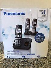Panasonic KX-TGE433B Cordless Phone w/ Answering Machine - 3 Handsets
