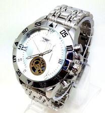 045P Men Latest Fashion Wrist Watch Silver Metal Strap White Luxury Smart Dial
