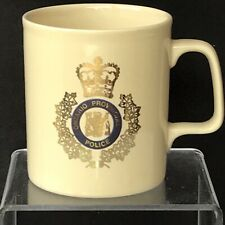 Ontario Provincial Police Canada Vtg 80s Coffee Mug Coat Of Arms