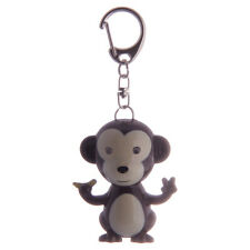 Cute LED light up and Sound Monkey Keyring Key Ring Key chain torch