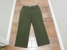 "ST JOHNS BAY GREEN PANTS W/FRONT & BACK POCKETS ~ SIZE 12 X 28 1/2"" INSEAM"