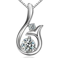 Mermaid Pendant 925 Sterling Silver Chain Necklace Womens Ladies Jewellery New