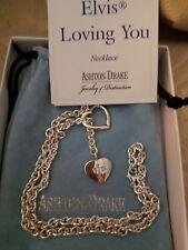 "Ashton Drake ""Elvis Loving You"" Sterling Silver Necklace ***RARE****"