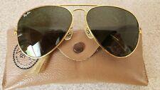 Original Vintage Ray Ban Aviator Sunglasses L2112 1980's with original case Vg