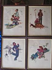 "Framed Norman Rockwell ""Me & My Pal"" print portfolio. 1970's by Brown & Bigelow."