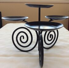 Partylite Viking Candle Holder Ball Pillar Scroll Metal Hard To Find Rare