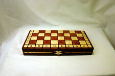 "Royal 30 European Wood International Chess Game Set  - 11-3/4"" x 11-3/4"""