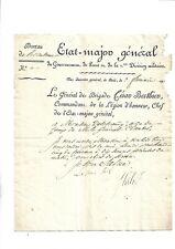Révolution. César Berhier. Etat-Major. Gouvernement. Paris. Lettre signée. Rare+