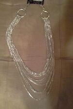*~New Silver Multi Chain Jean Chain