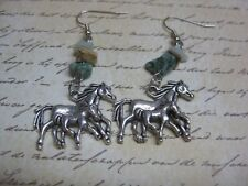 Western Style Horse Earrings - Mare With Foal