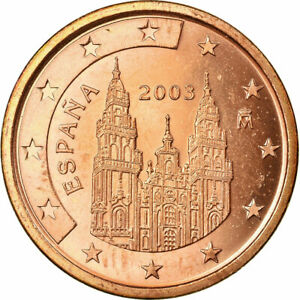 [#722863] Espagne, 5 Euro Cent, 2003, TTB, Copper Plated Steel, KM:1042