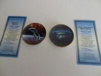 STAR TREK STARSHIPS 2 Plates USS Enterprise NCC-1701-D & Romulan Warbird