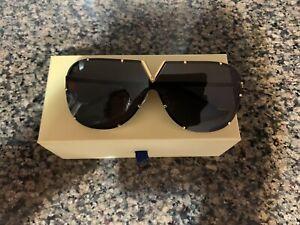 Louis Vuitton LV Evidence Sunglasses Z0926L Black -Gold Driving Sunglasses