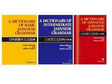 3 set DICTIONARY OF BASIC  + INTERMEDIATE + ADVANCED JAPANESE GRAMMAR BRAND NEW