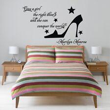 Marilyn Monroe Lettering Word Wall Stickers Bedroom Decor Art Vinyl Mural Decals