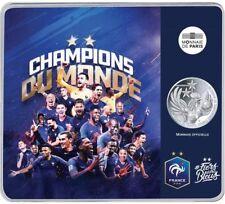 pièce 10 Euros argent / SOUS BLISTER/DOUBLE Champion du Monde de Football 2018