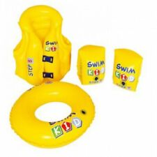 R563 Children Swimming Set Lifejacket Armbands Swim Ring as Set W3