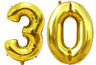 """40"""" Number 30 Gold Balloons 30th Birthday Anniversary Party Foil Decoration new"""