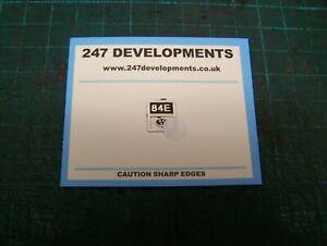 """""""0"""" Gauge 247 Developments Shed Plate 84E"""