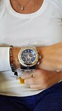 Invicta 22157 Men's 53mm Bolt Zeus Swiss Quartz Chrono Blue Dial Gold Cable SS