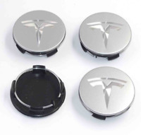 56mm Car Wheel Center Cap Rim Hubcaps Emblem Silver for Tesla Model 3 S X