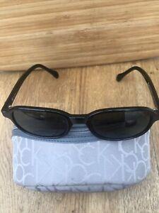 Calvin Klein CK Ladies Black Sunglasses 4002 Plus Zipped Case