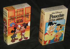 Disney LITTLE LIBRARY - Pinocchio, Prince and the Pauper - Twin Books Sealed NEW