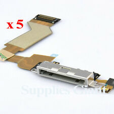 New Charging Port Dock Connector Flex Cable For iPhone 4S White US Lot 5