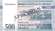 Rwanda 500 Francs 1994 Unc pn 23s Specimen