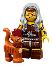 Black NEW C107 Lego Custom Wizard Minifigure with Magic Wand /& Fire Magic
