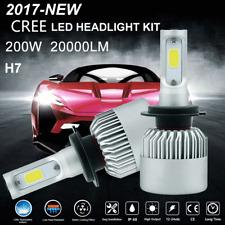 H7 COB 200W 20000LM Cree LED Headlight Kit High/Low Power Bulbs 6500K White Lamp