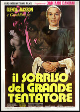 CINEMA-manifesto IL SORRISO DEL GRANDE TENTATORE g.jackson, adolfo celi; DAMIANI