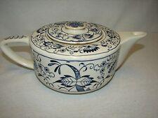 Vintage Blue Dahila Pattern Porcelain Tea Pot with lid ~ Teapot