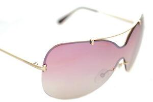 TOM FORD ONDRIA TF519 28Z Womens Wrap Shield Sunglasses ROSE GOLD PINK MIRROR