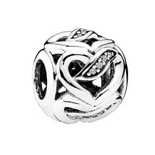 RETIRED PANDORA! NEW Ribbons of Love CZ Sterling Silver Charm 792046CZ RRP $49
