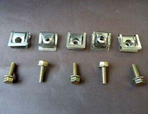 RENAULT ENGINE SPLAHGUARD METAL SPRING U-TYPE SCREW FENDER DOOR TRIM FIXING CLIP