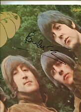 Beatles Paul McCartney Signed RUBBER SOUL  Album Cover Perry Cox LOA