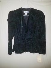 Scott McClintock Sz 10 Vintage Black Bling Rhinestone Evening Womens Jacket