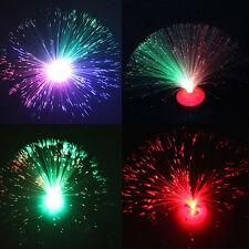 Neu 1X LED Farbwechsel Glasfaser Beleuchtung Lampe Licht Fiberglas Leuchte Deko