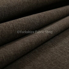 10 Metres Of Plain Weave Textured Chenille Upholstery Sofa Interior Fabric Brown