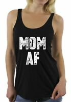 Mom AF Racerback Tank Top Funny Mom Tank Top Cute Mother's Day Gifts for Women