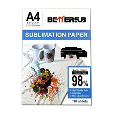 110pcs A4 Iron On Heat Sublimation Transfer Paper For Inkjet Printer T Shirt Mug