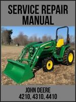 John Deere 4210 4310 4410 Utility Tractor Technical Manual TM1985 USB Drive