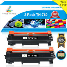 2 Toner Compatible for Brother TN760 w/ Chip MFC-L2750DW MFC-L2710DW HL-L2730DW
